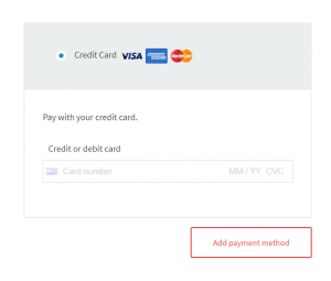 Add Payment Method Credit Card