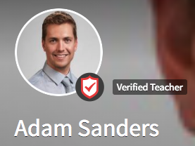 Background Check Badge Adam Sanders