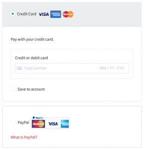 Choose a payment method