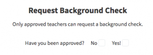 Request Background Check question